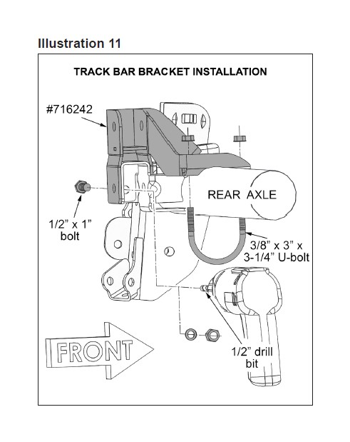 diagram 2003 jeep wrangler header pipe best place to find wiring Jeep JK Auxiliary Fuel Tank using the existing hole in the outboard face of the superlift track bar bracket as a template use a centering punch to mark hole center jeep front end
