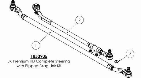 How to Install Teraflex HD Tie Rod & Flipped Drag Link Kit