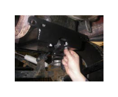 Swing The Engine Skid Down And Install Transmission Isolation Mount Reinstall HD Plate