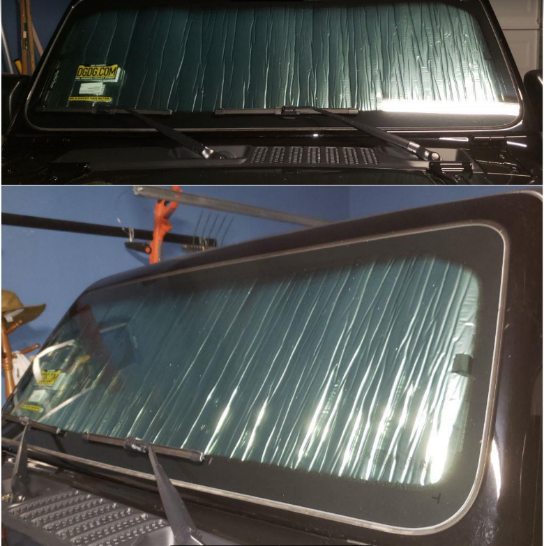 how to install weathertech techshade windshield sun shade  2018 jeep wrangler jl  on your jeep