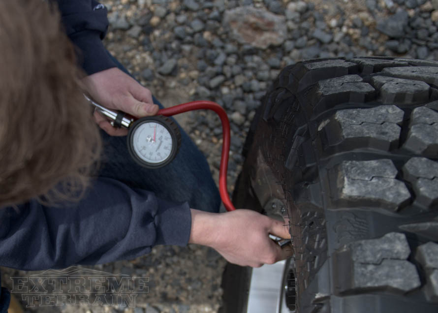 Checking Tire Pressure on a Wrangler