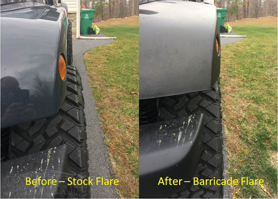 Barricade Rivet Style Fender Flares on a 2007-2017 JK Wrangler