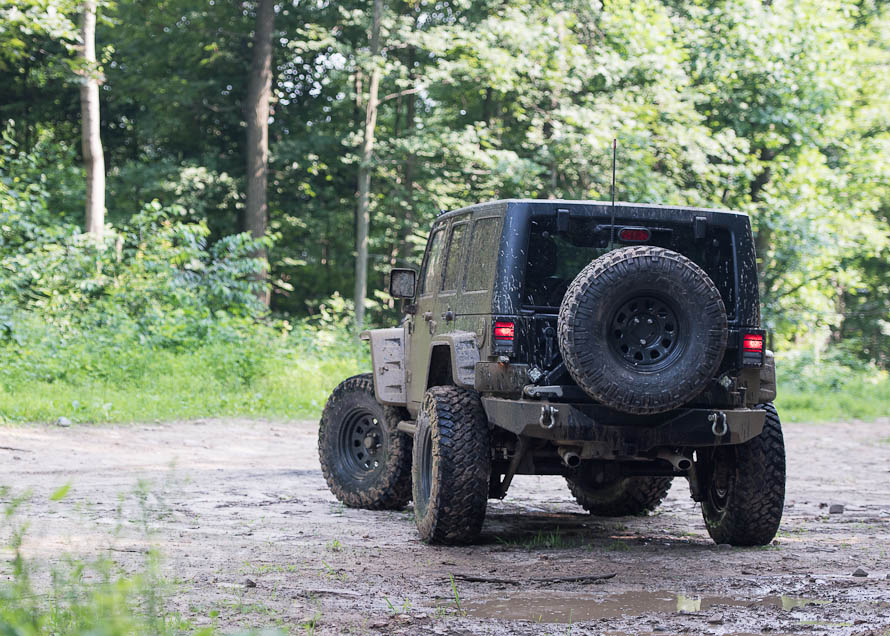 Lifted JK Wrangler on a Trail