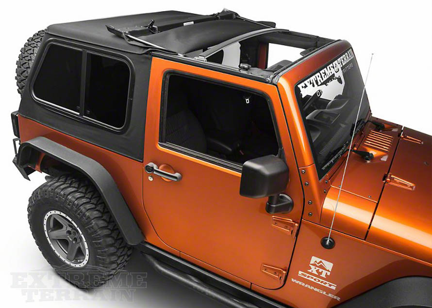 types of jeep wrangler tops how to care for them extremeterrain. Black Bedroom Furniture Sets. Home Design Ideas