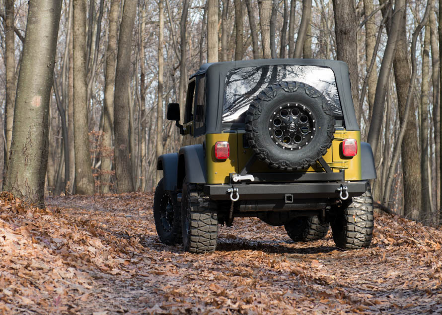 2 Door TJ Wrangler out on the Trail