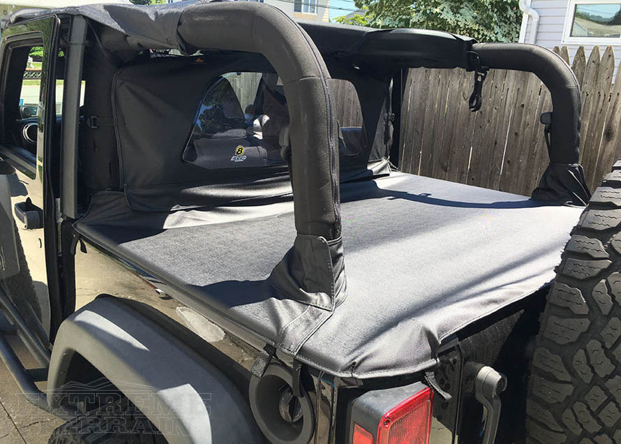2007-2017 Wrangler JK 2 Door with a Duster Deck Cover