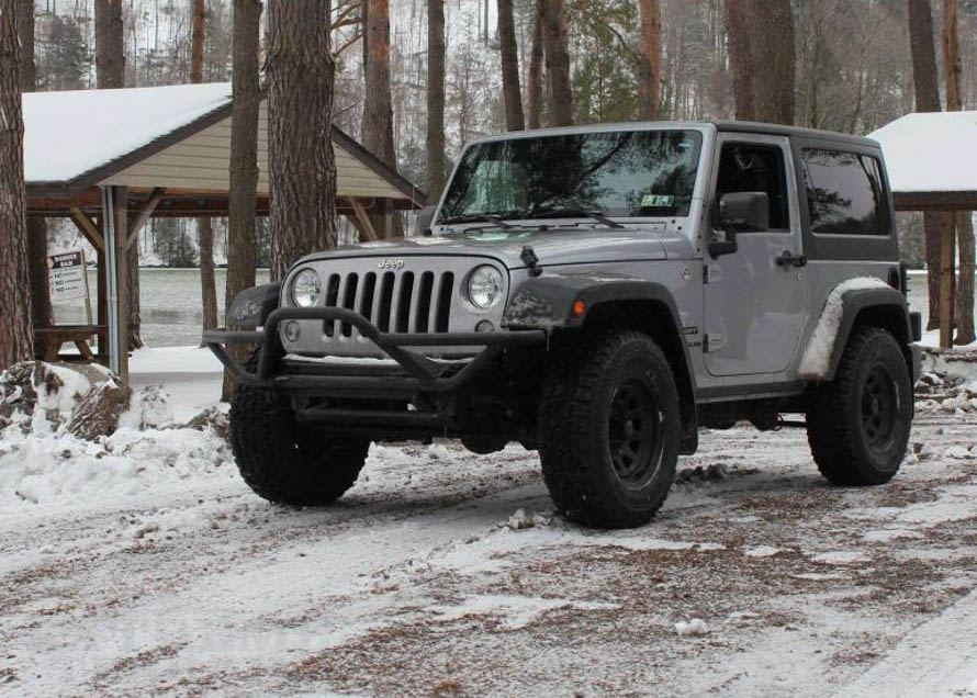 JK Wrangler with a Grille Guard Bumper
