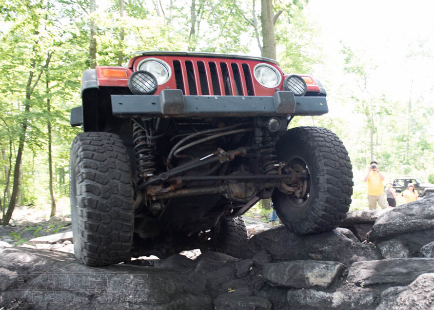 Wrangler TJ Facing Skyward with Suspension Showing