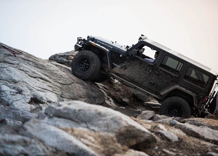 Wrangler Rubicon Taking Up on a Rock Hill