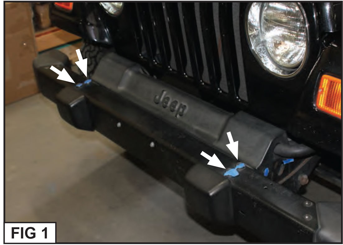 How To Install A Barricade Trail Force Hd Front Bumper W Led Lights Engine Management Wiring Diagram 1989 Jeep Wrangler Step 1