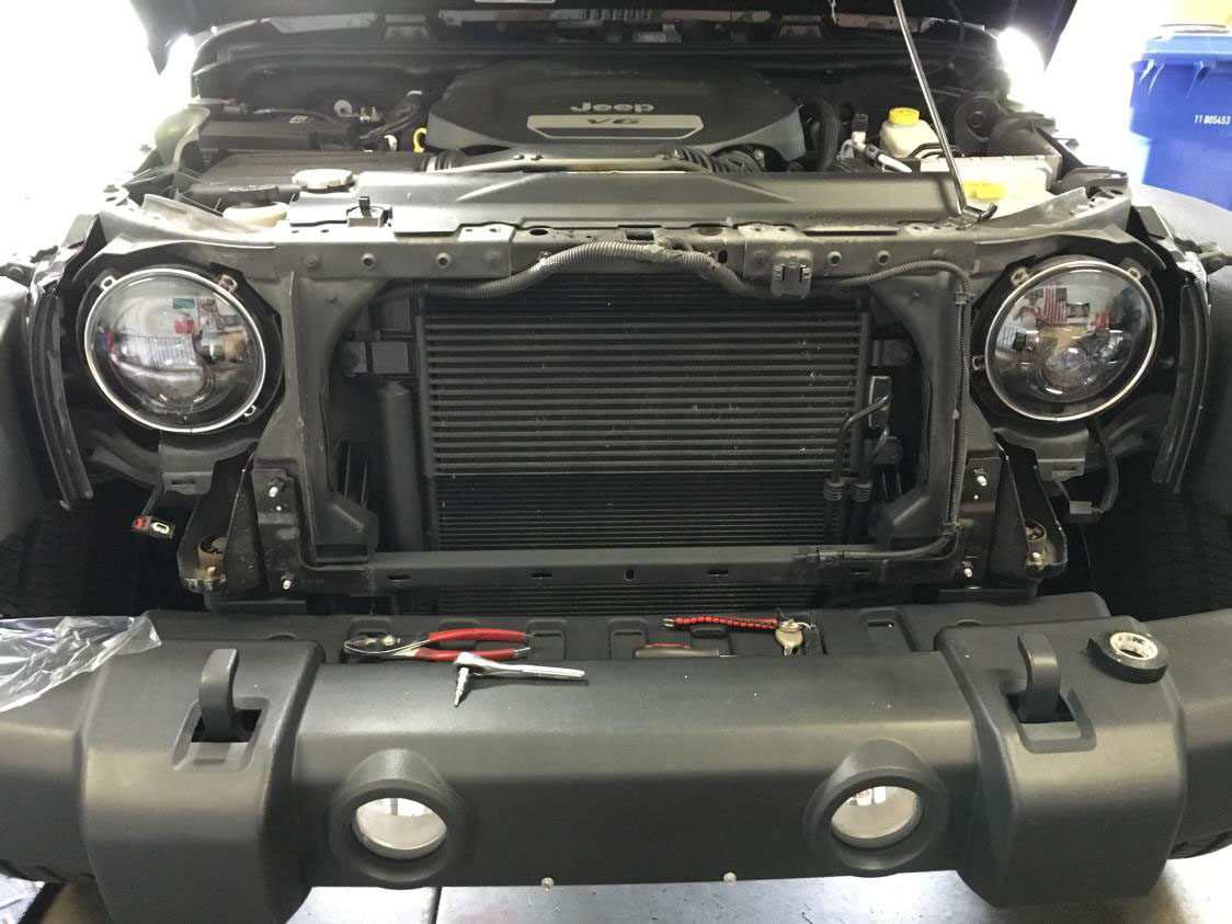 How To Install Raxiom Led Headlights On Your 2007 2016 Jeep Wrangler Unplug Wiring Harness Of The Is Now Complete All Thats Left Place Grille Back Onto