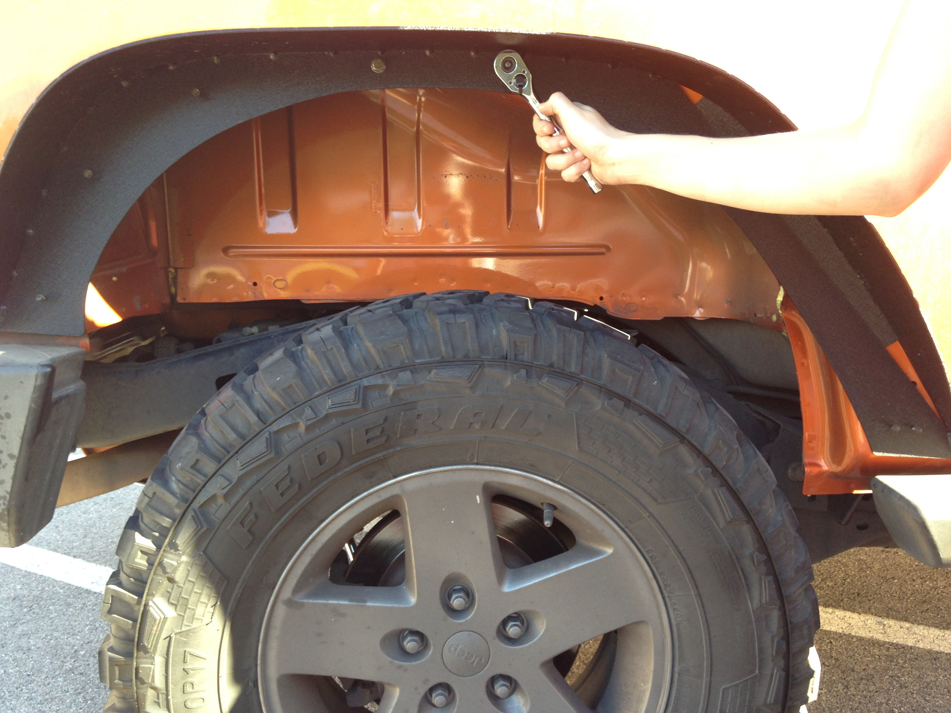 How To Install Smittybilt Xrc Fender Flares On Your 2007 2016 Installing Jeep Once In Place Go Back And Tighten All Bolts Use The Mounting Holes New Flare As Guides For 5 Tapping Screws Installation Instructions